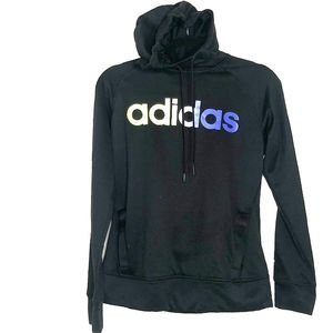 ADIDAS Women's Black Climawarm Hooded Sweatshirt